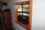 Sheoak mirror with dovetailed corners